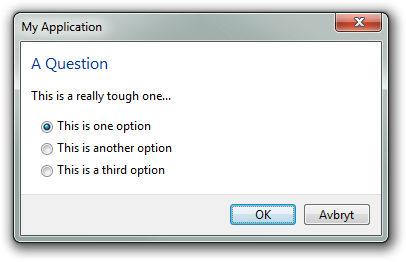 Sample of a TTaskDialog